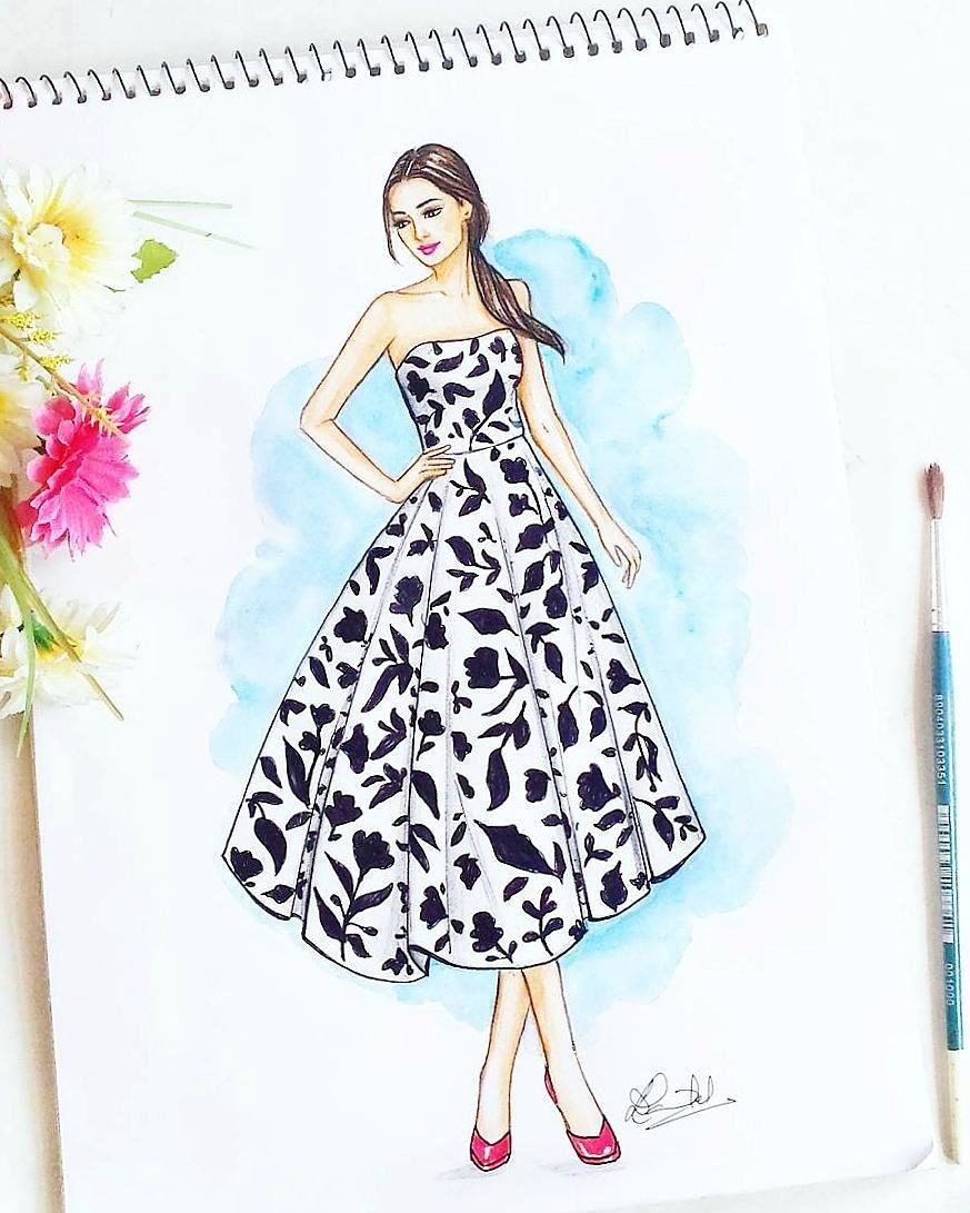 6 975 Followers 132 Following 240 Posts See Instagram Phot Fashion Illustration Dresses Fashion Illustration Sketches Dresses Fashion Illustration Sketches
