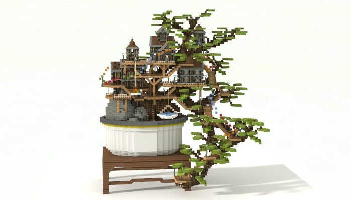 Bonsai Tree House Minecraft Project Bonsai Tree Tree Bonsai