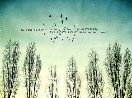 my soul faints but my hope is in you