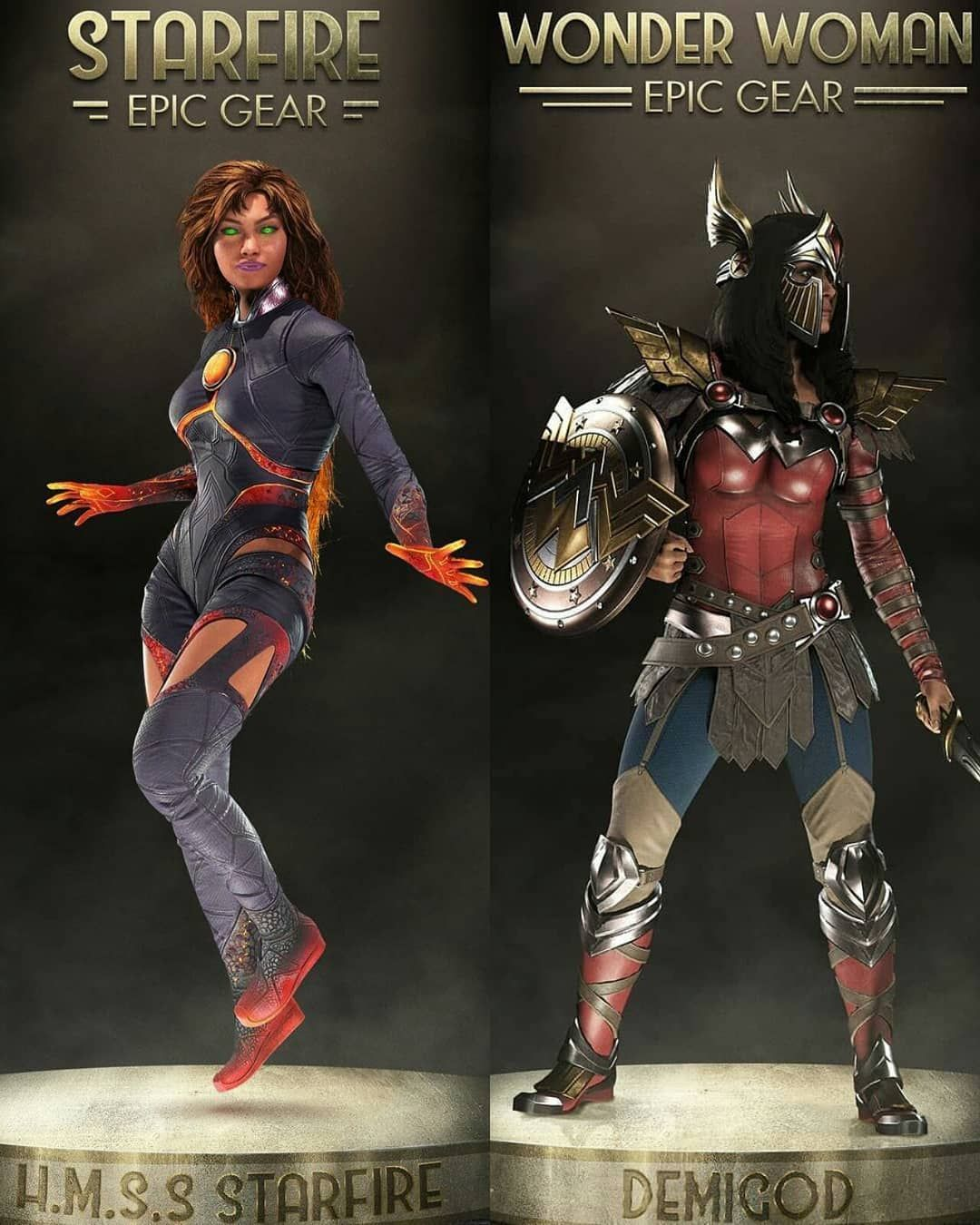 Starfire And Wonder Woman Injustice 2 Starfire Wonderwoman Koriandr Koryanders Kori Kory Themyscira Tamaran Star Wonder Woman Starfire Cosplay Woman