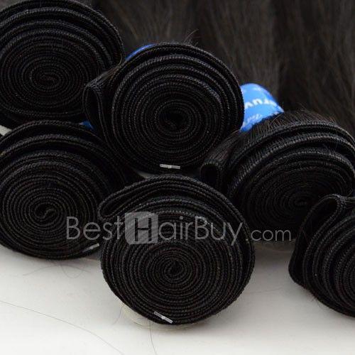 10 Inch - 30 Inch Straight Virgin Peruvian Remy Hair Weave Natural Black 100g