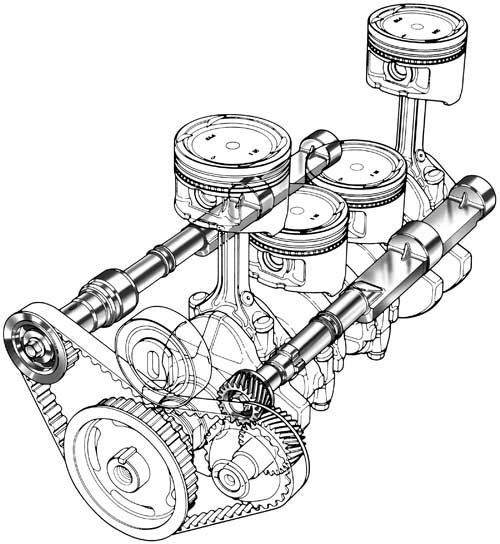 Product Design Line Art : Automotive illustration cutaway ghosted phantom and