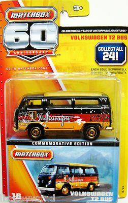 Matchbox 2013 Volkswagen T2 Bus #16 Matchbox 60th Anniversary Commemorative Edtn