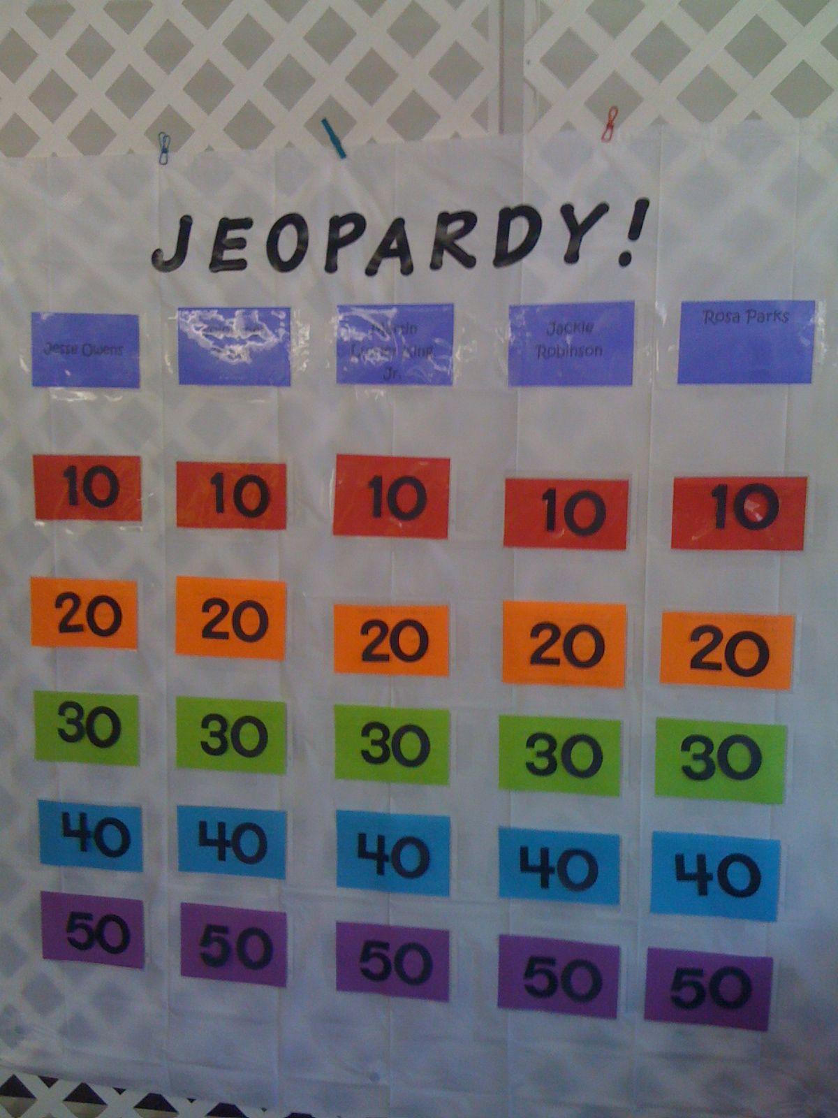Shower Curtain Jeopardy Board Children S Department Ideas