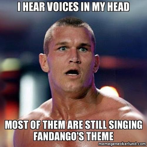 Only Randy Orton can go #Fandangoing and #RKOing simultaneously...