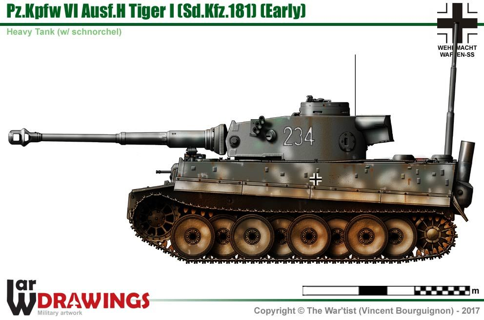 Pz Kpfw Vi Ausf H Tiger I  Early Production Model  With