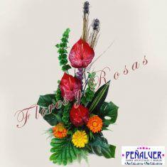 Flores Y Plantas Artificiales Arte Floral Arreglos Florales Funerarios Centros De Flores Arreglos Florales Artificiales