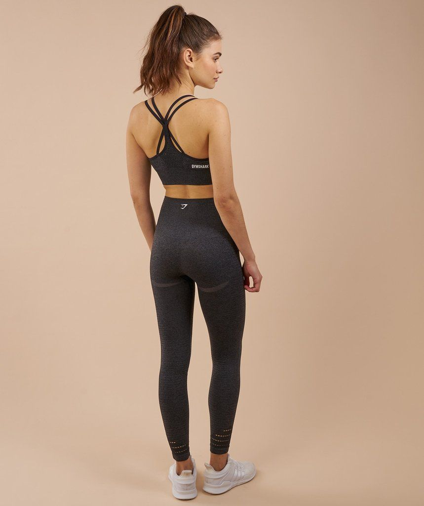 ba14bf40230da6 Gymshark High Waisted Seamless Leggings - Black Marl 2