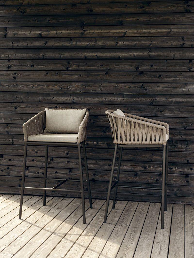 Bitta modern patio furniture by rodolfo dordoni - Bar Chair Garden Contemporary Polyester Bitta Kettal