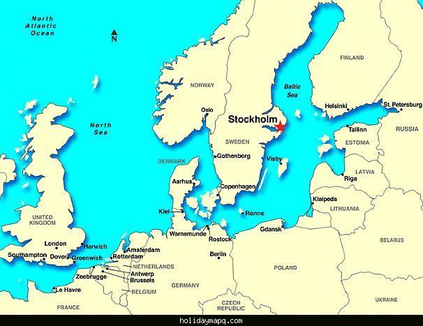 Stockholm Sweden Map nice SWEDEN MAP STOCKHOLM   Holidaymapq   Poland, Russia, Sweden Stockholm Sweden Map