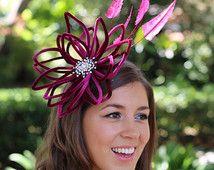 Burgundy velvet fascinator, couture headpiece, cocktail hat, fashion hat, fascinator, Kentucky Derby hat, Royal Ascot hat