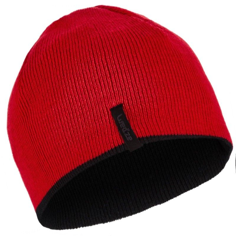0c2e565bba952 Bonnet de ski enfant reverse noir rouge wed ze