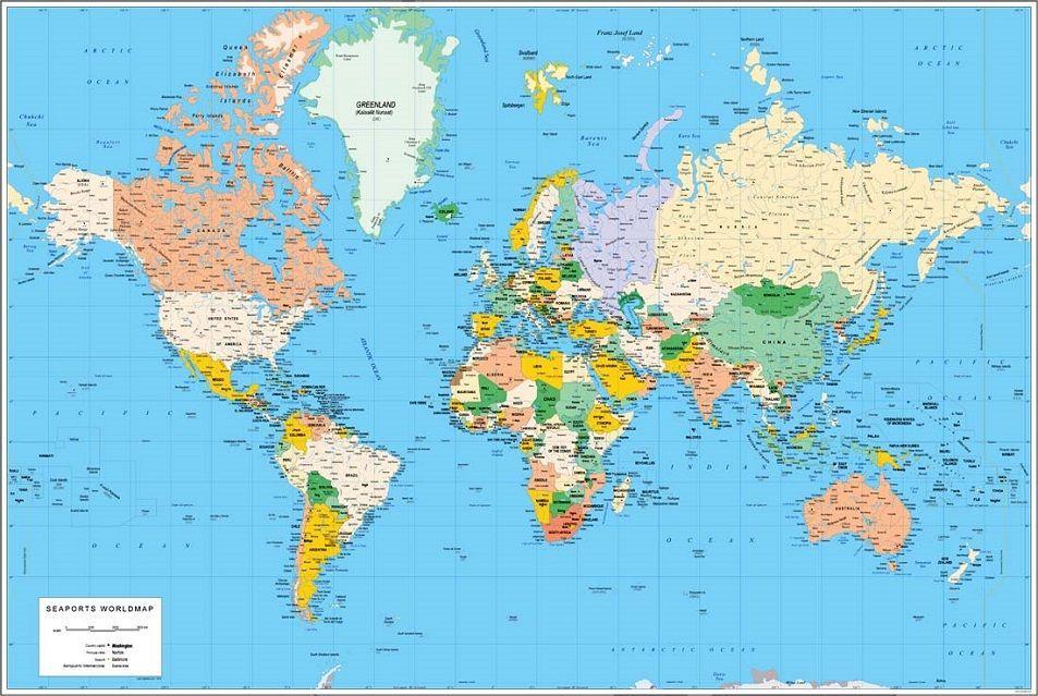 Mapamundi 100 Mapas Del Mundoplaneta Para Imprimir Y