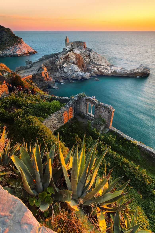 the dream of a poet sunset lighthouse porto venere