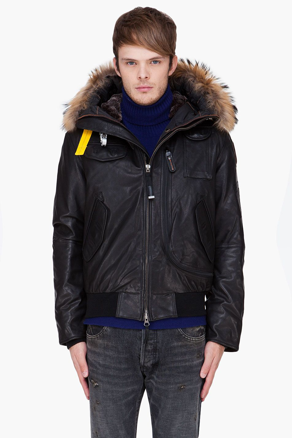 parajumpers leather gobi jacket