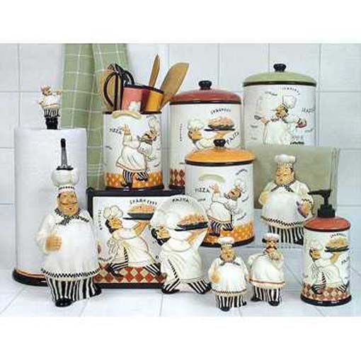 Chef Decor For Kitchen: Fat Chef Kitchen Decor --- I NEED IT ALL! Just Love It