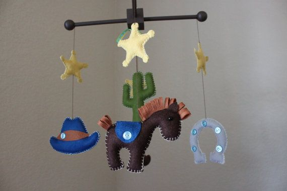 Baby Crib Mobile - Baby Mobile - Nursery Rodeo, Cowboy Mobile, Texas ...