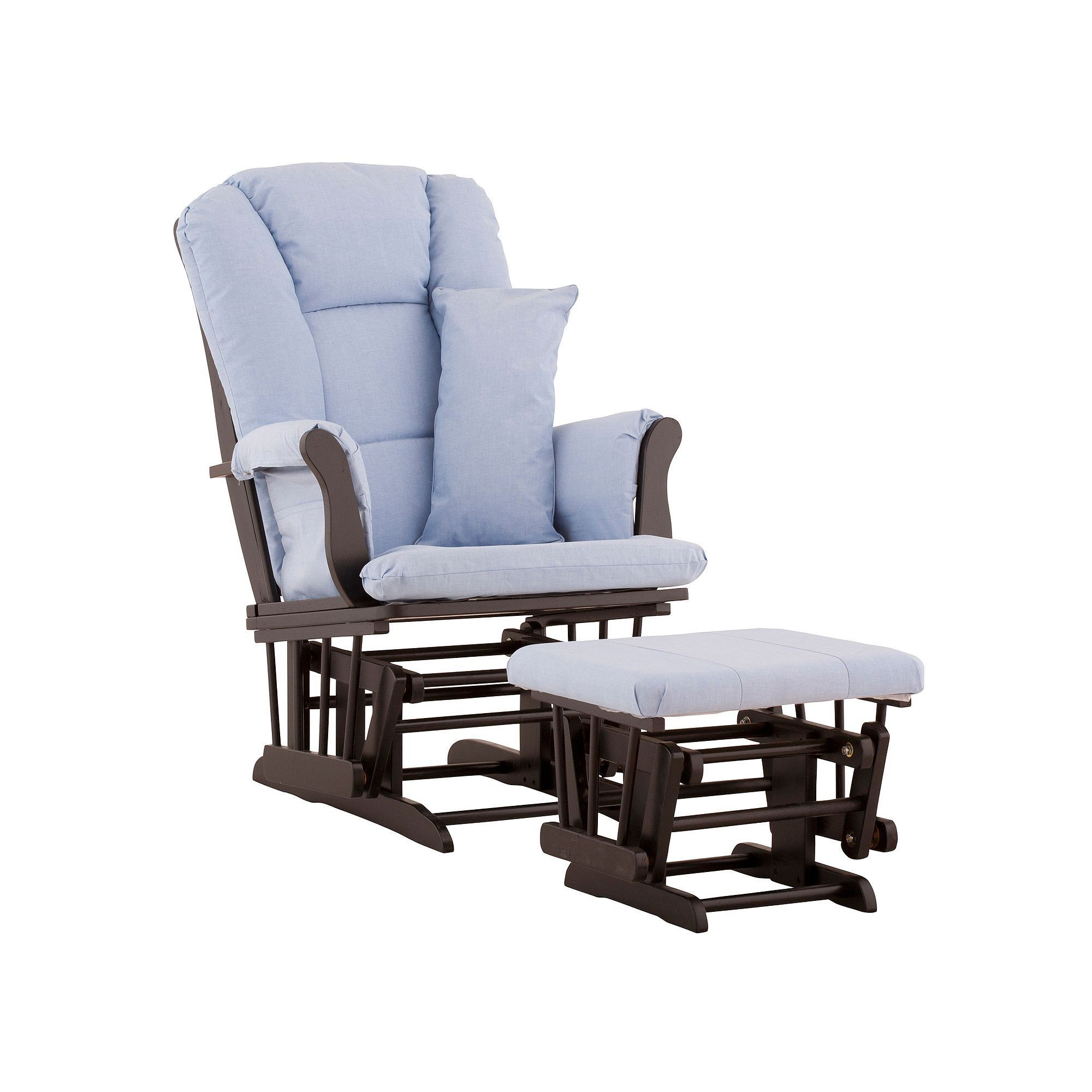 Stork Craft Tuscany Custom Glider Chair And Ottoman Set Blue Durable