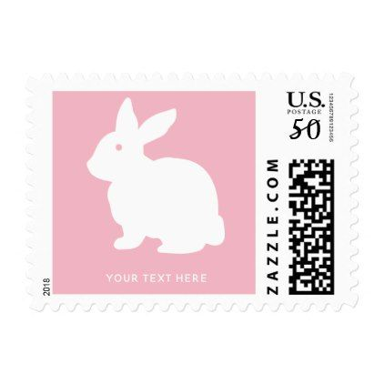 Personalized easter bunny baby shower pink stamps st patricks personalized easter bunny baby shower pink stamps st patricks day gifts saint patricks day saint negle Image collections
