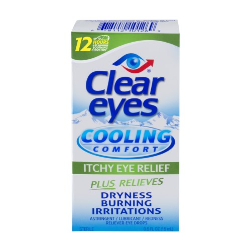 Clear Eyes Cooling Comfort Itchy Eye Relief Eye Drops 0 5 Fl Oz Products Itchy Eye Relief Itchy Eyes Clear Eyes