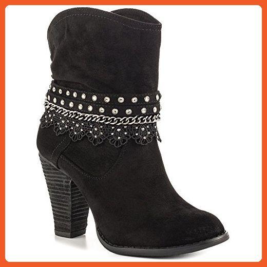 Womens Lobsteria Heel Boots black