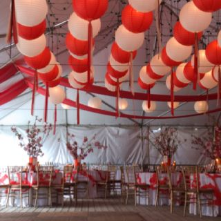 Garden wedding with chinese banquet 6 course dinner decor garden wedding with chinese banquet 6 course dinner junglespirit Images