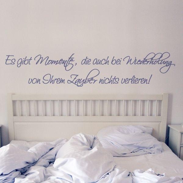 Wandspruch Schlafzimmer mit geschwungener Schrift | Steffi ...