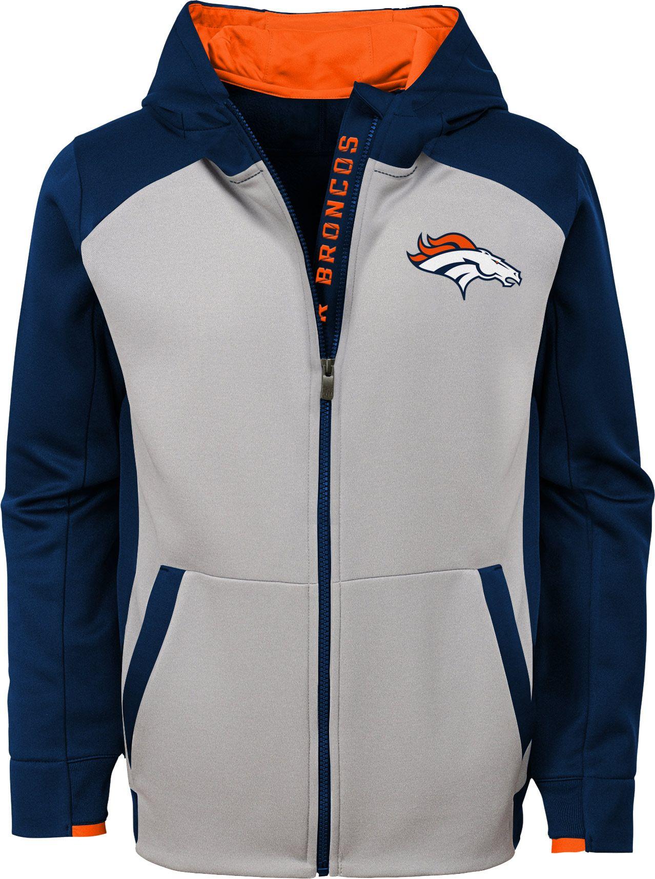 d4994af0 NFL Team Apparel Youth Denver Broncos Hi-Tech Full-Zip Hoodie ...