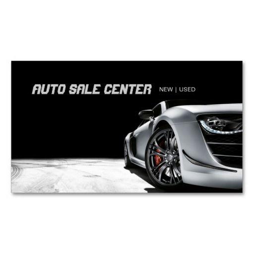 Auto Sale Car Dealership Business Card Zazzle Com Car Business Cards Cars For Sale