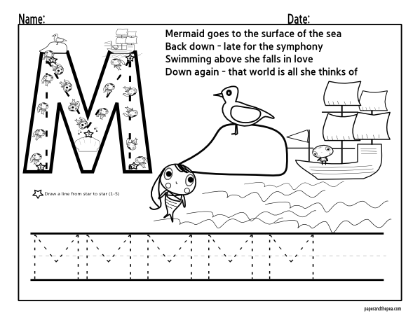 Letter M Preschool Worksheets – Letter M Worksheets