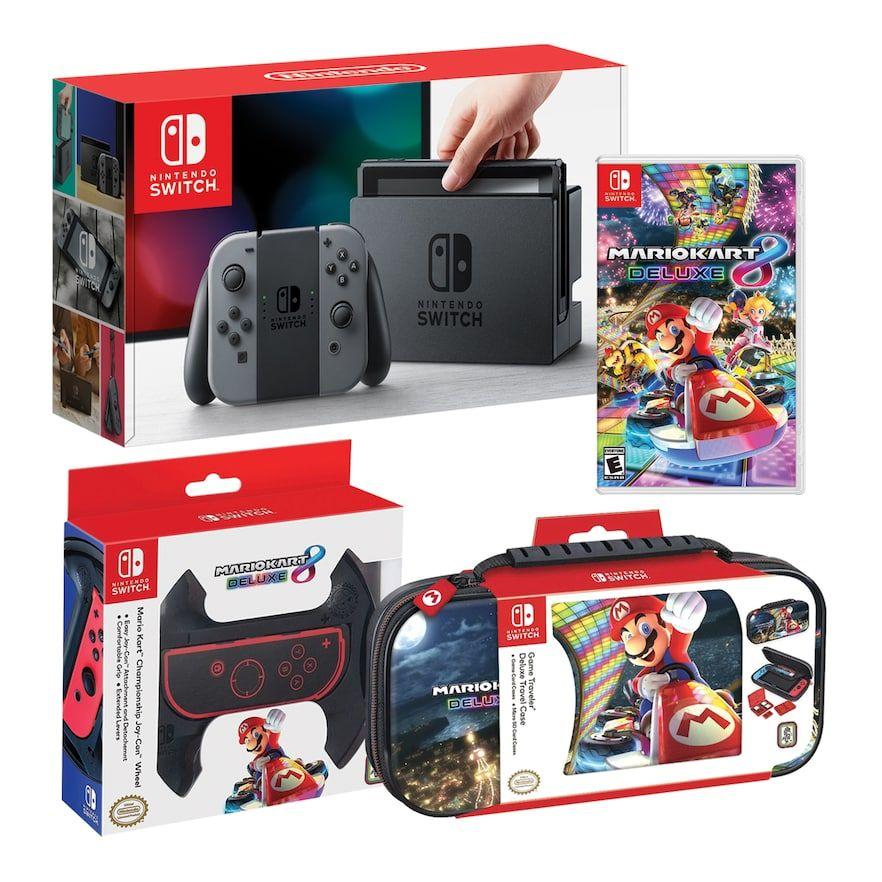 Nintendo Switch Bundle With Mario Kart And Joy Con Wheel And Case Nintendo Switch Mario Kart Nintendo