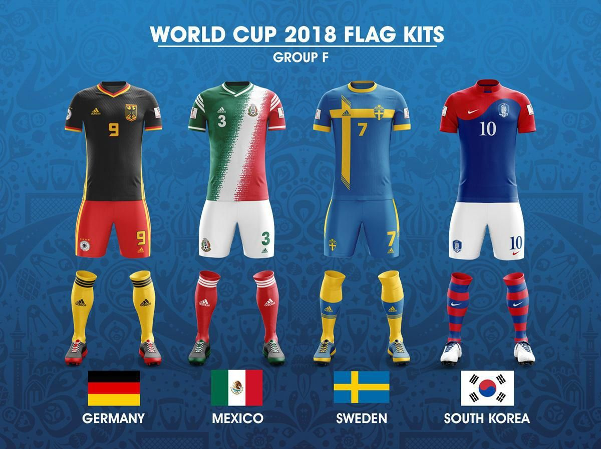 2018 Fifa World Cup Russia Group F Concept Of Forms Based On National Flags Kit Worldcup2018 Worldcup Wc2018 Wc World Cup World Football World Cup Kits
