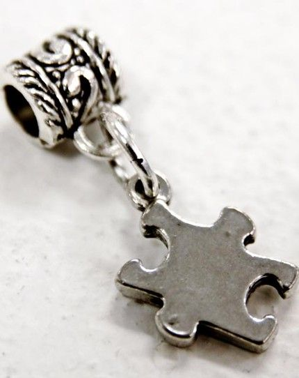 Autism Awareness Charm Fits Pandora Style Bracelet Moonandbackbeads Jewelry On Artfire