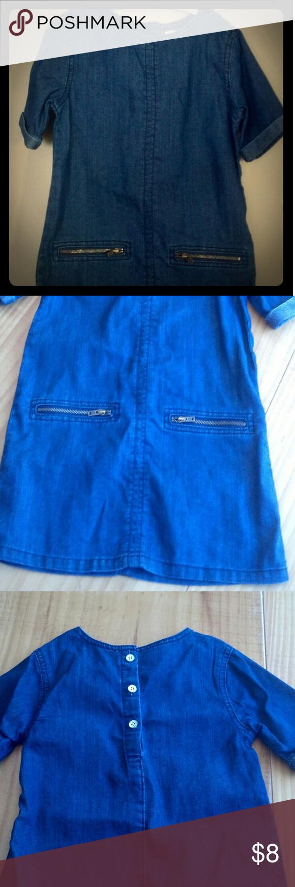 Denim short sleeve dress EUC denim dress with zipper pockets Old Navy Dresses Casual
