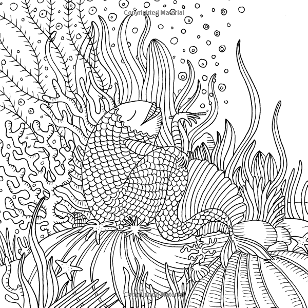 Under The Sea Colouring For Mindfulness 9780600633037 Amazon Com Books Animal Coloring Pages Sea Colour Coloring Pages