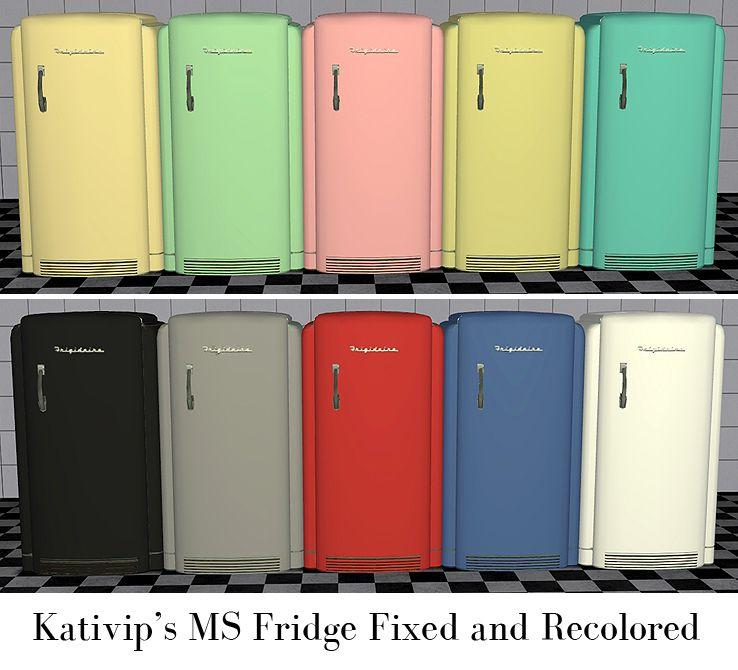 Futuristic Kitchen Stuff: Kativip's MS Fridge Fixed And Recolored