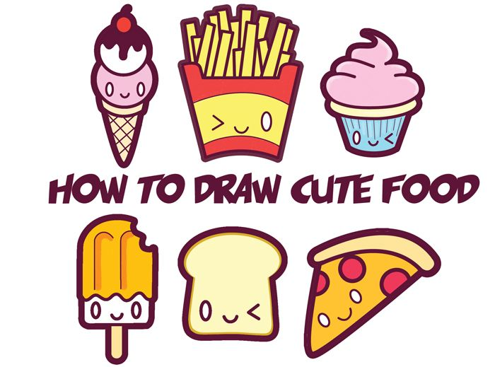 How To Draw Cute Kawaii Food Easy Step By Step Drawing Tutorial
