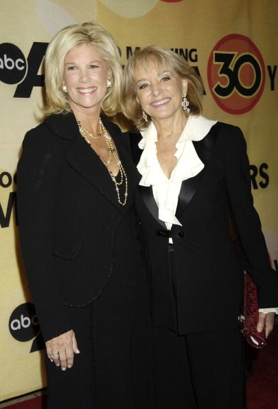 Joan Lunden and Barbara Walters during 'Good Morning America' 30th Anniversary Celebration at Avery Fisher Hall in New York City New York United...