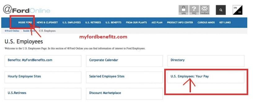 Ford Hourly Pay Stubs Online In 2020 Ford Employee Site Words