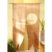 Moon And Clouds Japanese Noren Noren Curtain Is Woven Of Natural