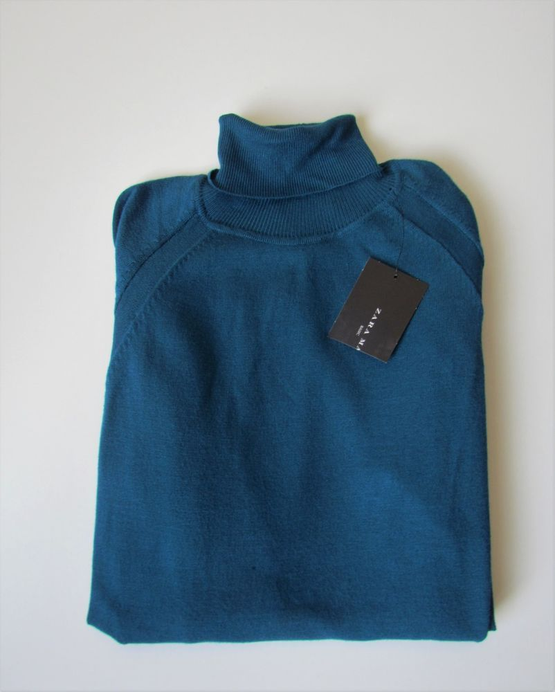 0c56a343 Mens ZARA Teal Blue Polo Neck Jumper BNWT Size M #fashion #clothing #shoes  #accessories #mensclothing #sweaters (ebay link)