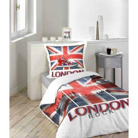 Idees Deco British Pour Chambre D Ado Decorer Une Chambre D Ado Sur Le Theme De L Angleterre Deco Maison Parure De Couette Decoration Maison