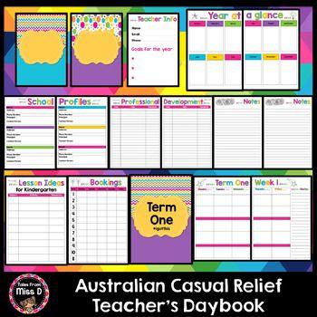 Australia Casual Relief Teacher Planner Editable BTSdownunder   Editable  Lined Paper  Editable Lined Paper