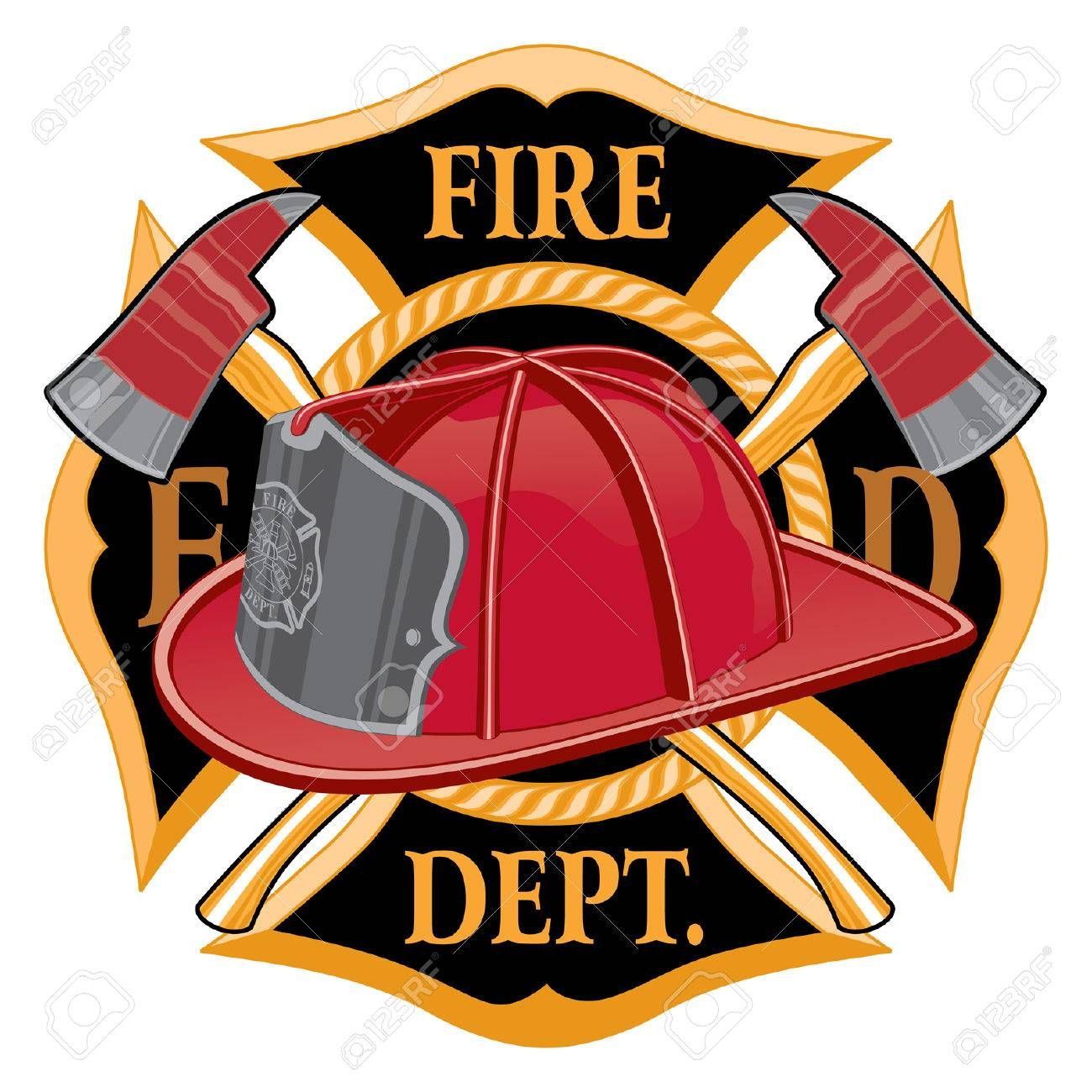 Fire Department Cross Symbol Is An Illustration Of A Fireman Or