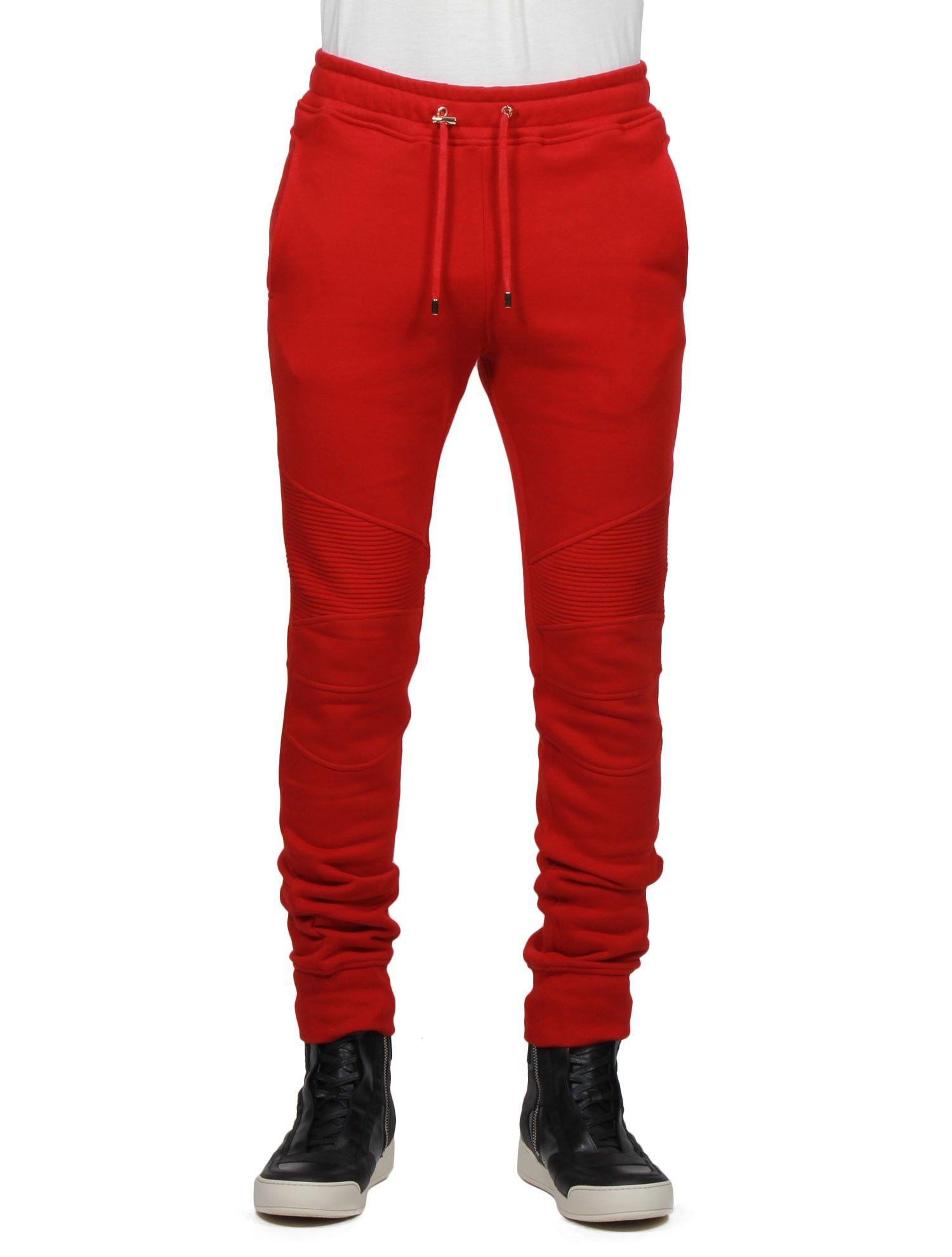 Jeans balmain homme rouge