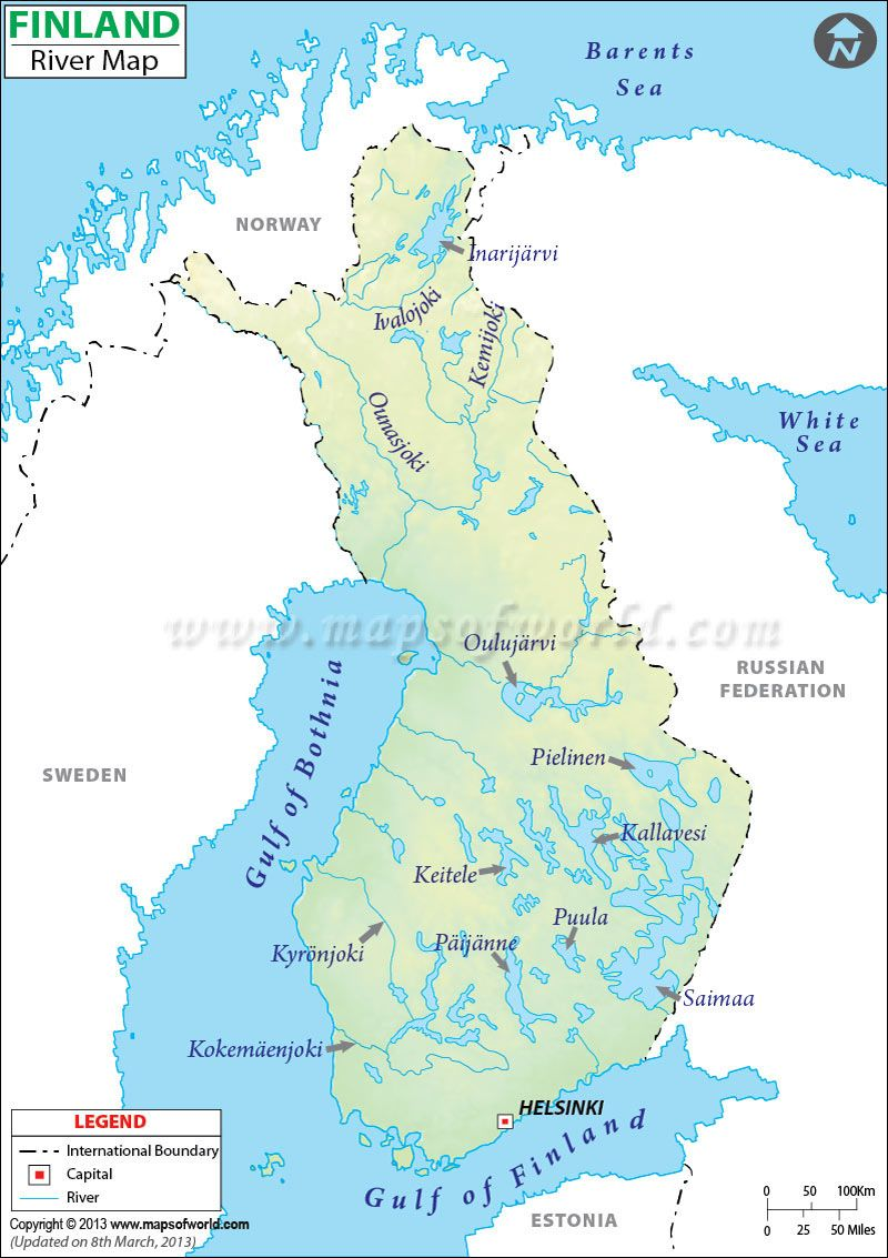 Finland River Map | Paddelwaters | Map, Finland und Map store