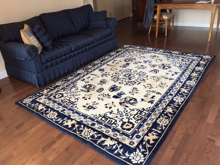 Ethan Allen Chinese Medallion Area Rug   Like New