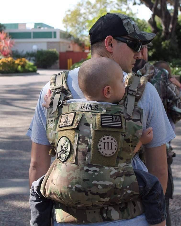 Multicam Double Pocket Baby Carrier Www Toughruck Us Facebook Com Toughrucks Army Baby Tactical Baby Gear Military Baby