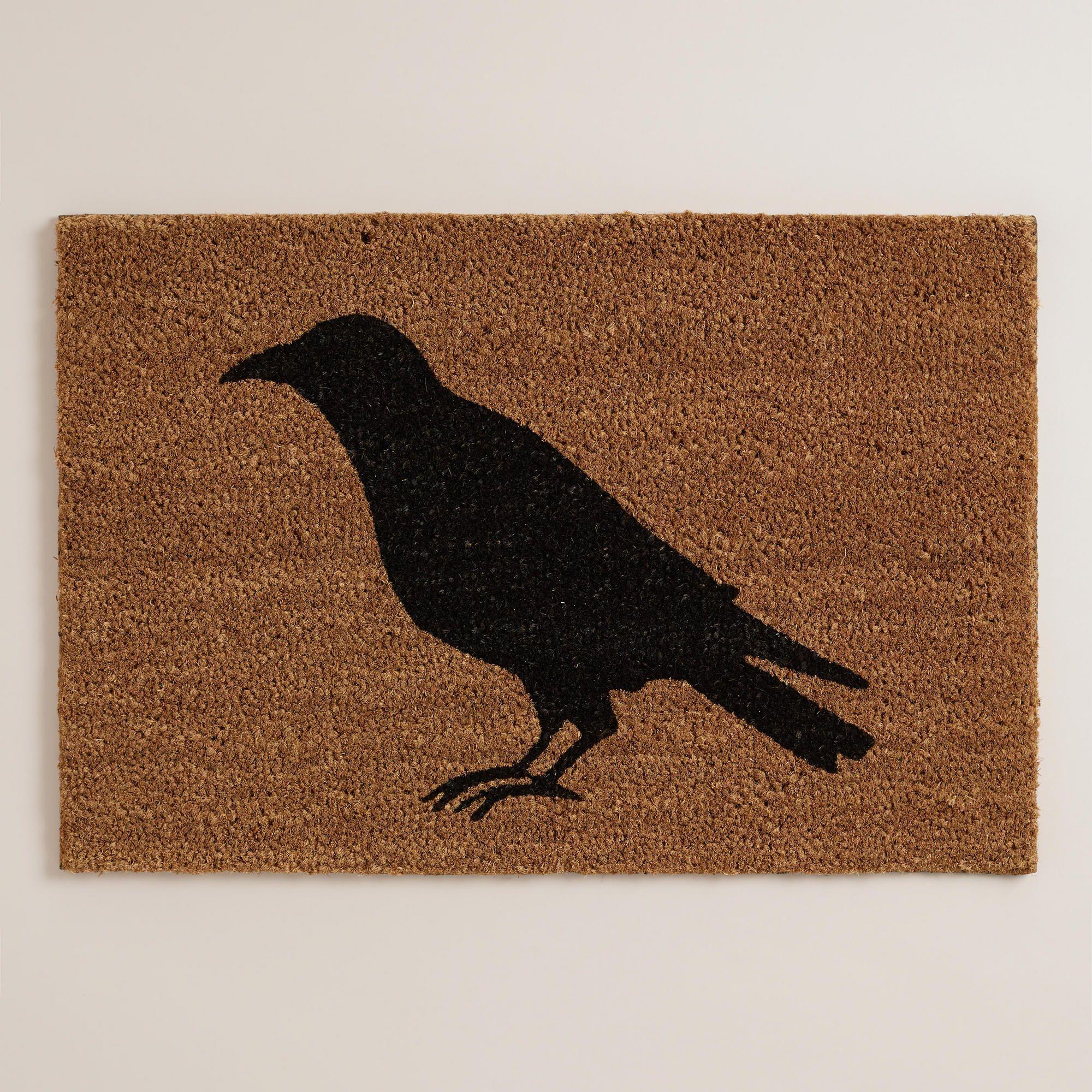 black crow halloween doormat world market