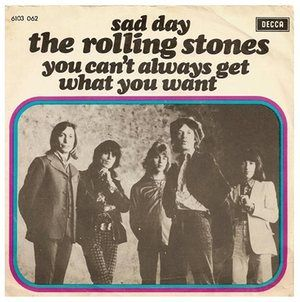 The cover of the single of You Can't Always Get What You Want.